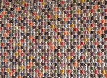 Деталь квадратной текстуры красочной картины Weave корзины Стоковое фото RF