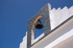 Деталь колокольни обители с колоколом стоковые изображения