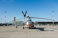Деталь конца-вверх пассажирского самолета стоковое фото