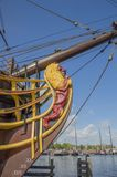 Деталь корабля VOC Doen на Scheepvaartmuseum Амстердаме Нидерланды Стоковые Фото