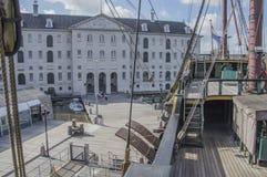 Деталь корабля VOC Doen на Scheepvaartmuseum Амстердаме Нидерланды Стоковое Изображение