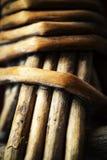 Деталь корзины wicker Стоковые Фото