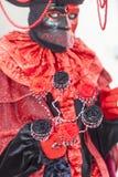 Деталь костюма - масленица 2013 Анси венецианская Стоковое Изображение RF