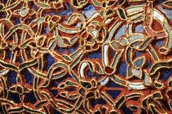 Деталь красивой старой абстрактной керамической мозаики украсила здание Стоковые Фотографии RF