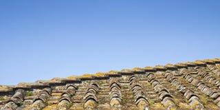 Деталь крыши Тосканы осмотренной сверху стоковые фото