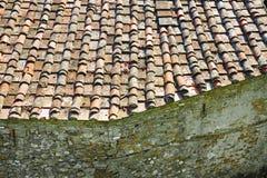 Деталь крыши Тосканы осмотренной сверху стоковое фото