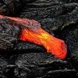 Деталь лавового потока Гаваи Kilauea стоковое изображение