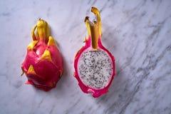 Деталь макроса pitahaya плодоовощ дракона Pitaya Стоковое Изображение RF