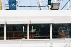 деталь моста навигации корабля океана Стоковая Фотография