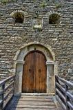 Деталь на старом замке с каменной стеной Стоковая Фотография RF