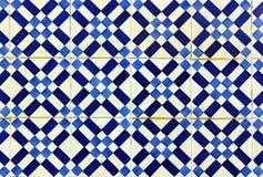Деталь некоторых типичных португальских плиток стоковая фотография