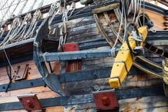Деталь Нептуна Galleon, используемая римским Polansky для кино Стоковая Фотография RF