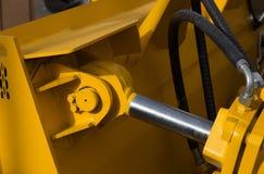 Деталь нового гидравлического поршеня бульдозера Стоковое Фото