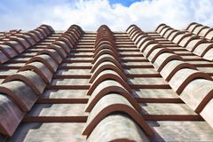 Деталь новой крыши Тосканы осмотрела сверху Италию стоковые фотографии rf