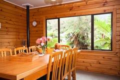 деталь обедая нутряная комната lodge деревянная Стоковая Фотография RF