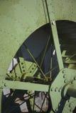 Деталь одной старой стальной турбинки. стоковые изображения