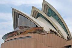 Деталь - оперный театр Сиднея Оперный театр Сиднея среди самых занятых центров исполнительских искусств в мире стоковая фотография rf