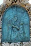 Деталь оплакивая скульптуры на кладбище Mirogoj, Загреб Стоковые Фото