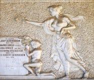 Деталь оплакивая скульптуры на кладбище Mirogoj, Загреб Стоковое Изображение RF