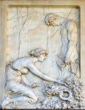 Деталь оплакивая скульптуры на кладбище Mirogoj, Загреб Стоковая Фотография