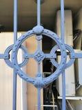 Деталь орнамента загородки металла стоковые фотографии rf