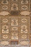 Деталь отраженного потолка в дворце зеркала на янтарном форте в Джайпуре Стоковые Фотографии RF