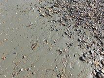 Деталь песка под малой водой Стоковая Фотография