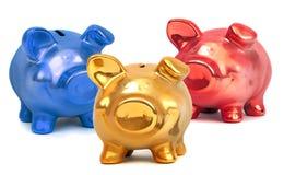 Деталь покрашенного piggy банка Стоковое Изображение
