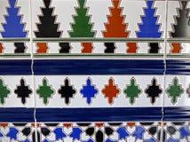 Деталь покрашенной плитки характерной Андалусии в Испании Стоковые Изображения RF