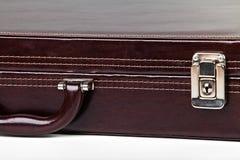 деталь портфеля коричневая Стоковое Изображение