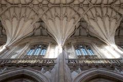 Деталь потолка на соборе Винчестер, Хемпшире, Великобритании стоковые фото