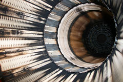 Деталь реактивного двигателя F16 Стоковые Изображения