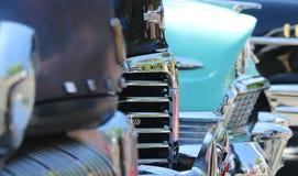 Деталь снятая от винтажной выставки автомобиля Стоковое Изображение RF