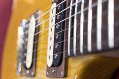 Деталь снятая электрической гитары Стоковые Изображения RF