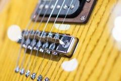 Деталь снятая электрической гитары Стоковое Изображение RF