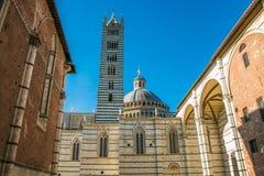 Деталь собора Сиены в Тоскане Стоковая Фотография