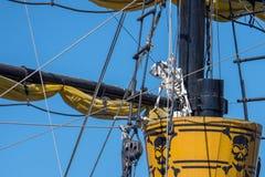 Деталь сосуда пирата Стоковые Фотографии RF