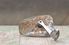 Деталь старого автомобиля, зеркала крыла Стоковые Изображения