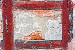 Деталь старого полу-timbered дома Стоковые Фотографии RF