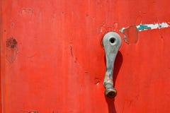 Деталь старого ржавого газового насоса Стоковая Фотография RF