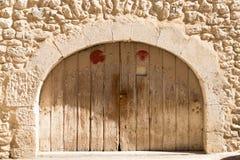 Деталь старой деревянной двери Стоковые Изображения