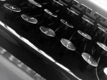 Деталь старой клавиатуры Стоковое фото RF