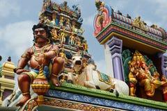 Деталь статуи в индусском виске стоковое фото rf