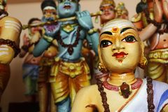 Деталь статуи в индусском виске стоковые изображения rf
