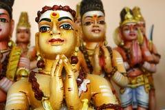 Деталь статуи в индусском виске стоковое фото
