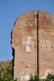 Деталь стены на Terme di Caracalla стоковые изображения rf