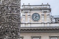 Деталь столбца Маркуса Aurelius rome Италия стоковые изображения