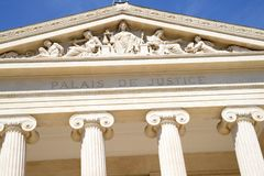 Деталь суда марселя, Франции стоковые фото
