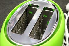 Деталь тостера - зеленый цвет - металлическая - домашний - кухня - технология - приборы - электрические Стоковые Фото