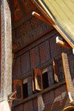 Деталь традиционных домов Tongkonan в Сулавеси стоковое фото rf
